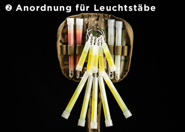 Anordnung für Leuchtstäbe in CyPouch Tasche von Cyalume
