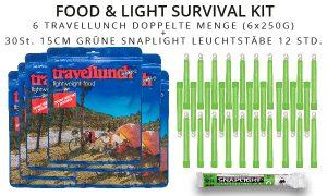 Survival Kit Notfallkit Nahrung Leuchtstaebe