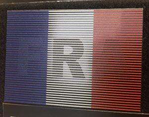 Französische Flagge Doppelinfrarot