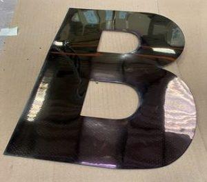 Identifizierung des Polizeifahrzeugs der Fusionsbuchstaben B-Klebeplatte