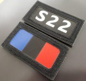 Infrarot-Patch-Hinweisanruf mit Frankreich-Flagge