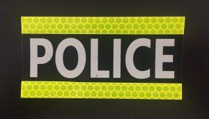 Polizei-IR-Identifikationspatch mit reflektierenden Seitenbändern