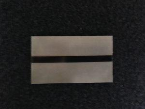 thermisches IR-Fusionsidentifikationspflaster mit zentralem IR-Streifen